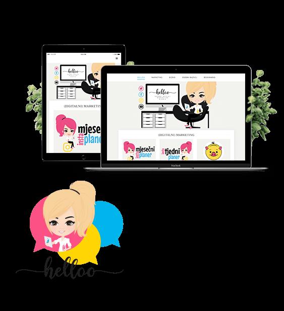 Helloo.hr (web, logo, vizuali za društvene mreže)