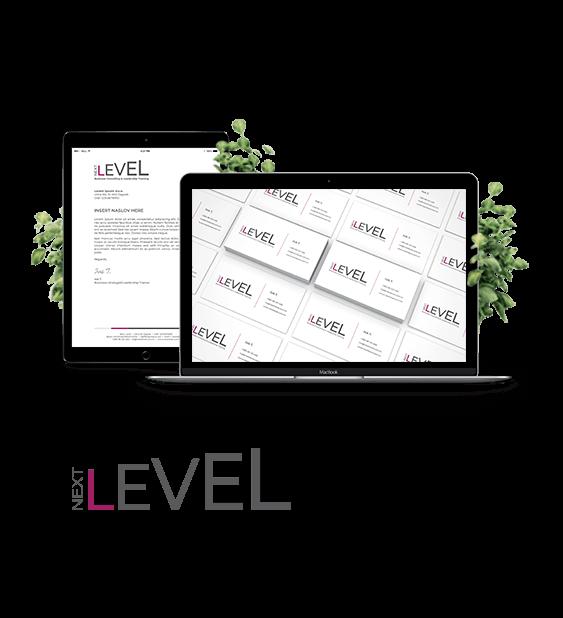 Next level (logotip, vizitka, memorandum, Power Point)